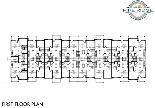 pike ridge town homes, first floor plan, affordable apartments kenosha
