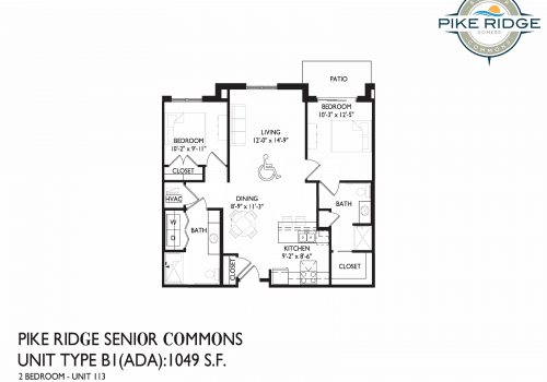 pike ridge senior apartments, two bedrooms for rent, somers senior living home