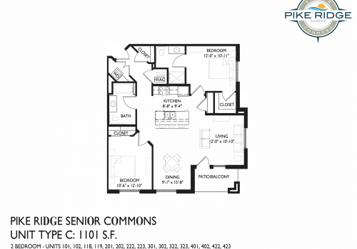 senior homes living, somers two bedroom living
